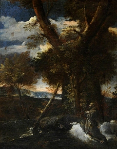 Wild Landscape with Saint Francis receiving the Stigmata