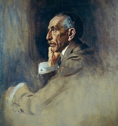 William Morris Hughes, 1862 - 1952. Prime Minister of Australia. (Study for portrait in Statesman of the Great War)