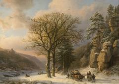 Winterlandschap aan de Elbe