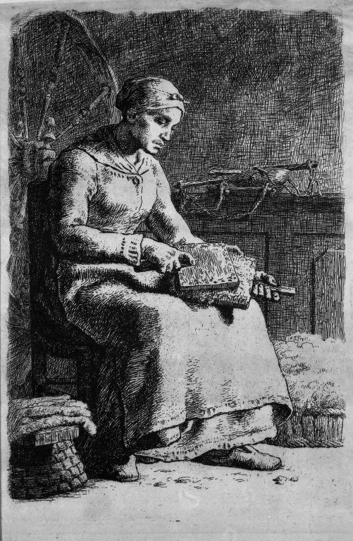 ''Woman Carding Wool (La Cardeuse)''