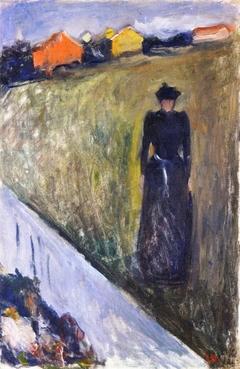 Woman in Evening Landscape