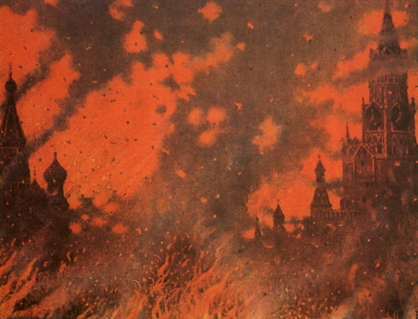 Zamoskvorechye in fire