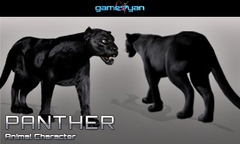 3D Panther Animal Character Modeling Vancouver, Canada
