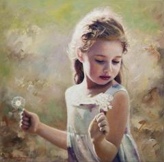 «Πορτρέτο κοριτσιού»,  40 x 40 cm, oil on canvas.