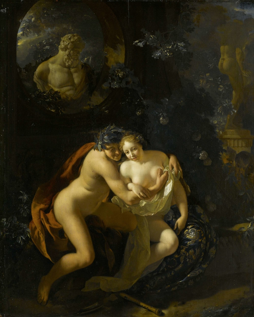 Art erotic couple making love have removed