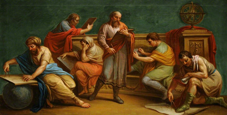 A Greek Philosopher and Disciples