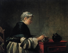 A Lady Taking Tea