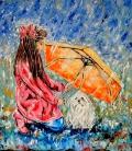 Amigas bajo la lluvia / Friends under the rain