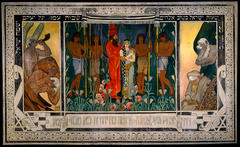 An Allegorical Wedding- Sketch for a carpet dedicated to Mr. and Mrs. David Wolffsohn Triptych (from...