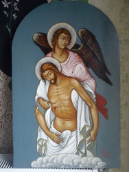 Angel taketh Jesus