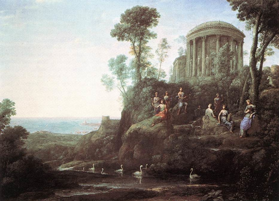 Apollo and the Muses on Mount Helicon