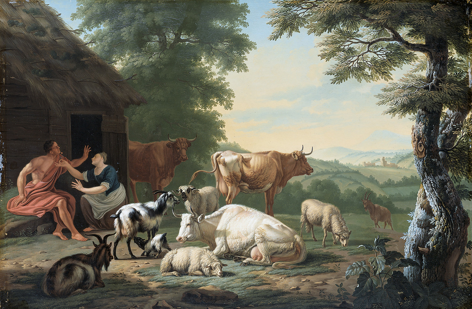 Arcadian Landscape with Shepherds and Animals