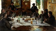 Artists' lunch. Cernay-la-Ville