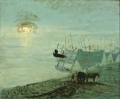 Beach Scene (verso of 1929.6.79A)