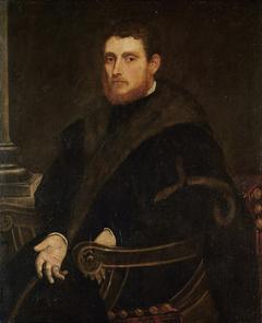 Bildnis eines jungen rotbärtigen Mannes im Lehnstuhl