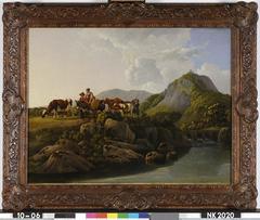 Boeren met vee nabij de Drachenfels