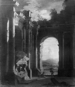 Capriccio of Ruins with Figures beneath an Archway
