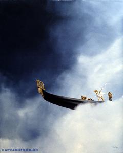 CHIARIMENTO NELLO RIO - Break in the cloud over the canal - by Pascal