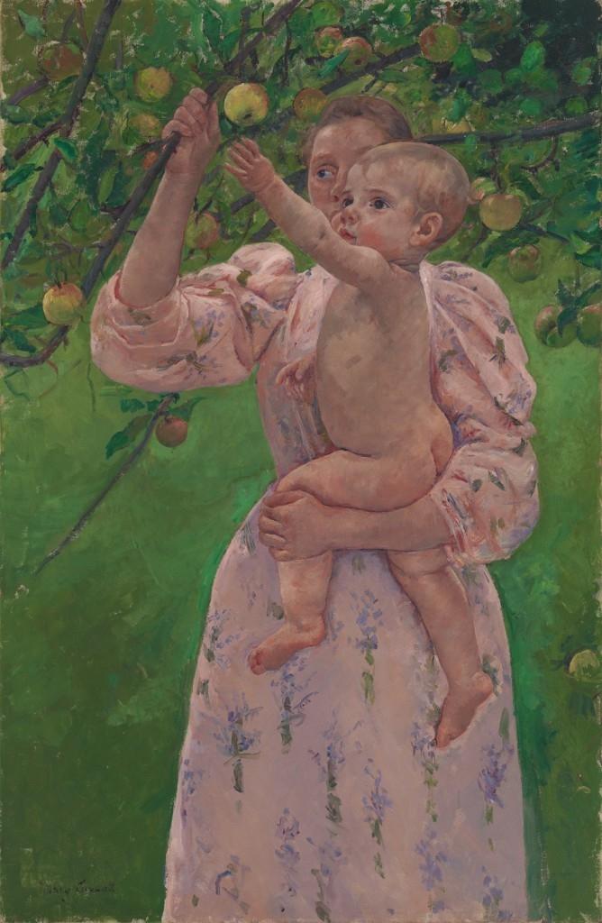 Child Picking a Fruit