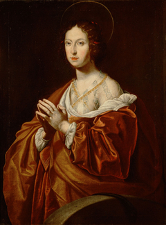 Claudia de' Medici (1604-1648), Erzherzogin, als Hl. Christine von Bolsena, Halbfigur