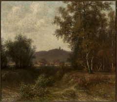Countryside landscape with trees