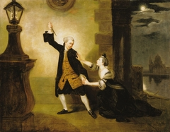 David Garrick as Jaffier, Susannah Maria Cibber as Belvidera in Venice Preserved, or The Plot Discovered