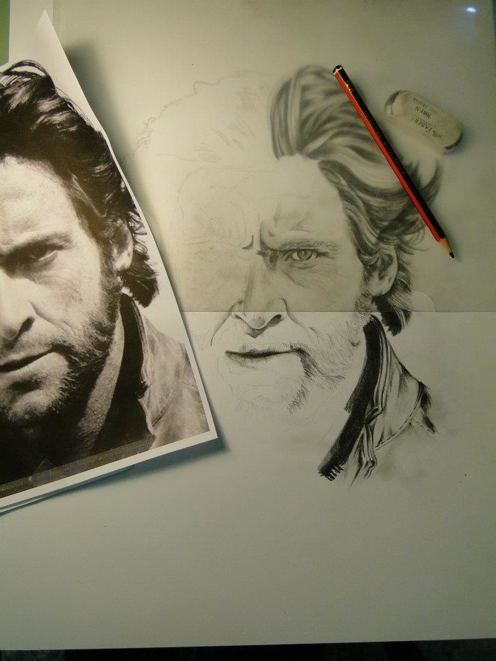 Drawing Hugh - Wolverine by Christos Tziortzis Tattoo Artist