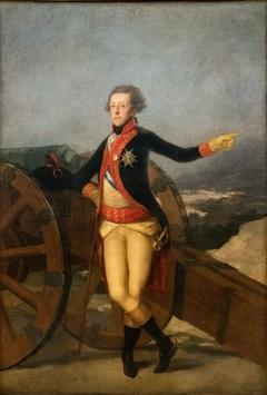 El general Ricardos, ante su cañón de batalla por Goya