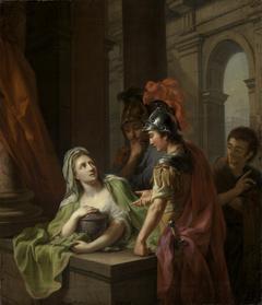 Elektra erkennt ihren Bruder Orest am Grabe Agamemnons