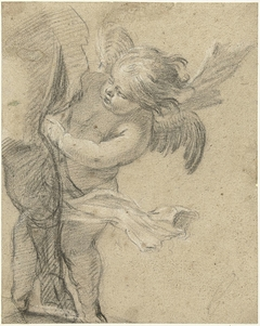 Engeltje bij het been van de H. Rochus