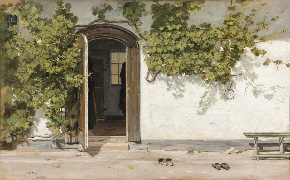 Entrance to an Inn in the Praestegarden at Hillested