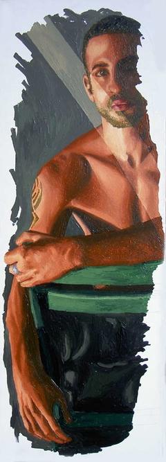 erotic male nude painting homosexaul artist painter raphael perez queer artworks paintings