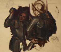"""Figures of Armoured Guards. Study to the Painting """"Catherine Jagiellon in Gripsholm Prison"""""""