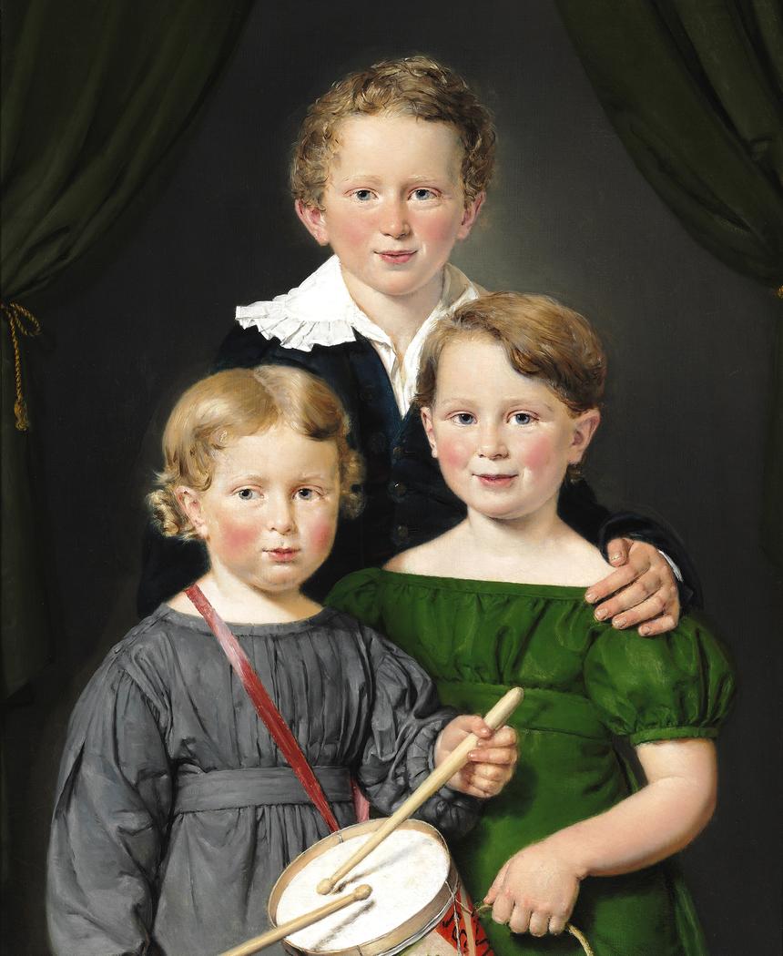 Hans and Bolette Puggaards three children