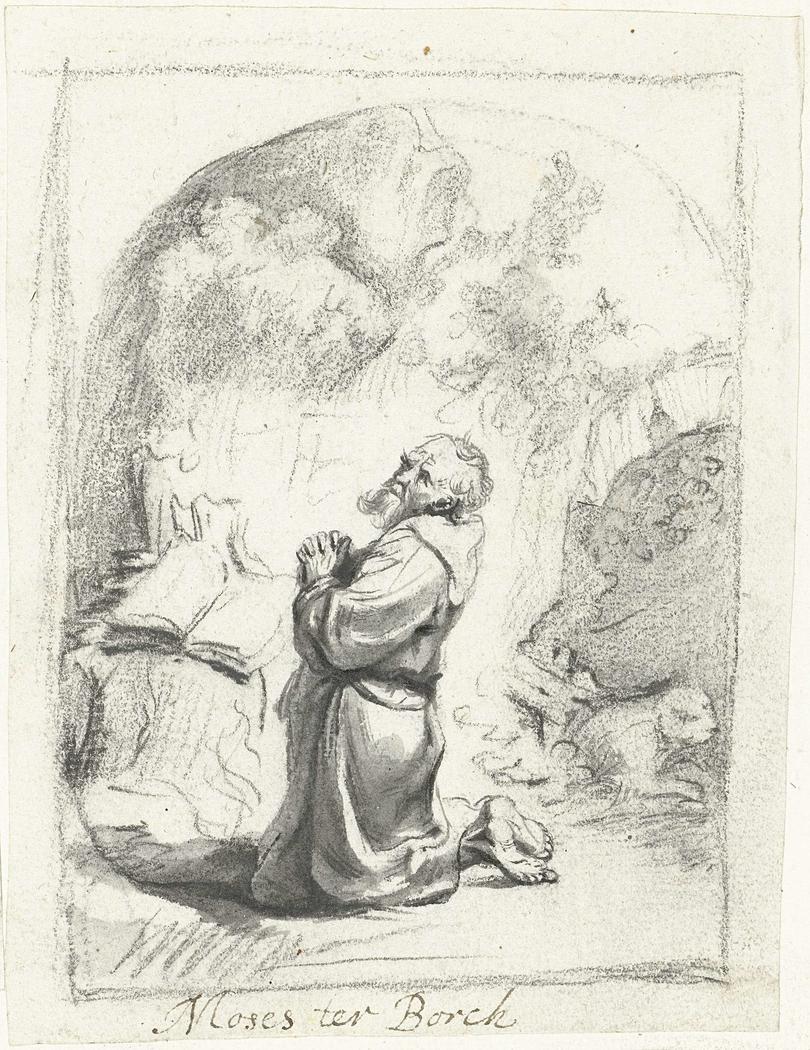 Heilige Hieronymus in gebed