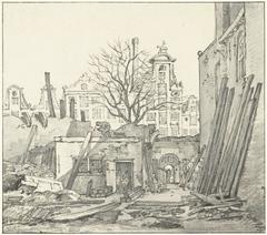 Het afbreken van het West-Indisch Huis te Amsterdam