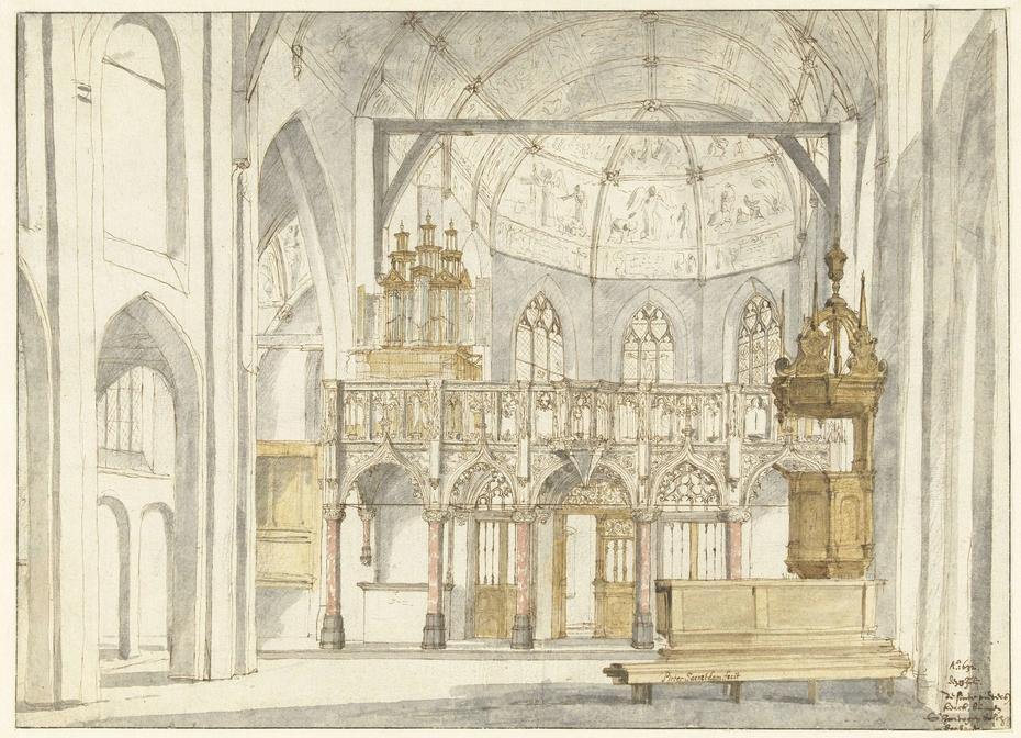 Het koor van de Sint-Pieterskerk in 's-Hertogenbosch