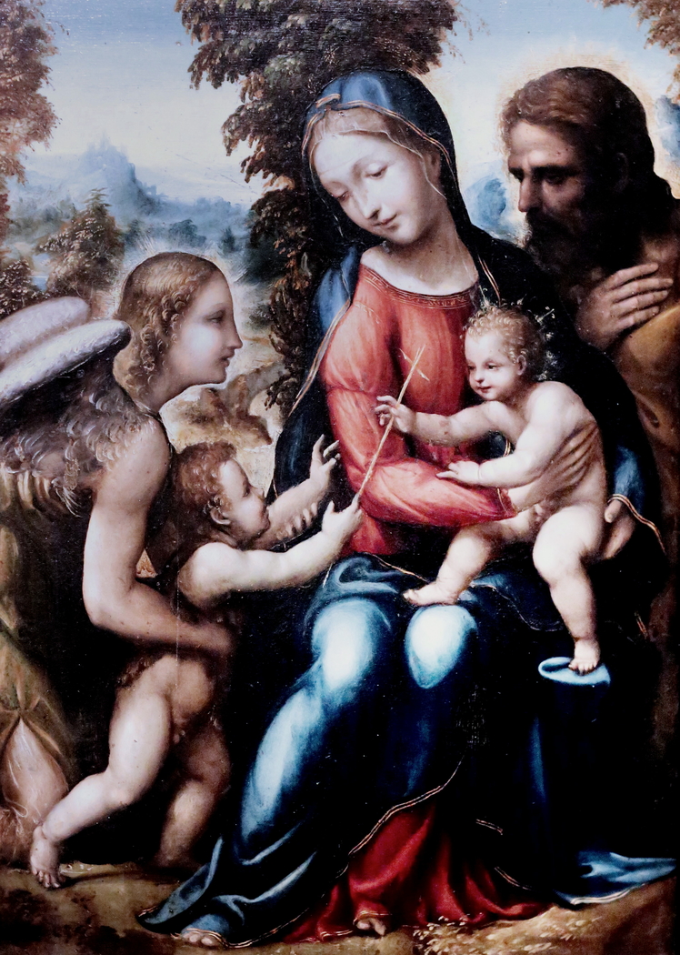 Holy Family with Saint John the Baptist and an Angel