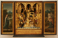 House Altar with Visitation and Adoration of the Shepherds
