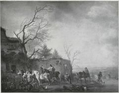 Huntsmen Halting at an Inn