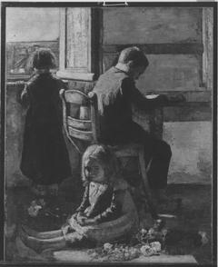 Interieur mit Kindern (Die Geschwister)