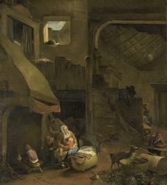 Interior of a peasant hut