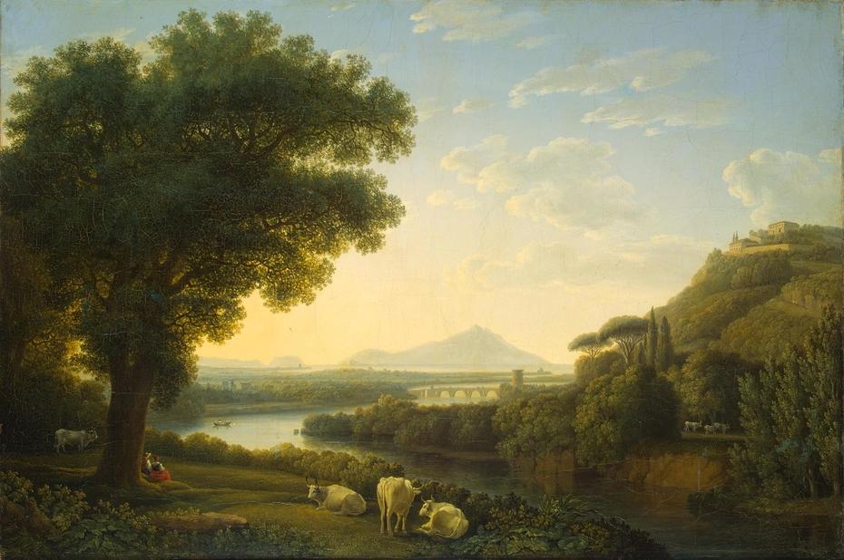 Italian Landscape Jacob Philipp Hackert Artwork On Useum
