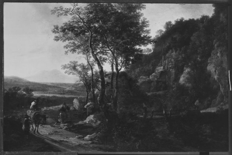 Italianate Landscape with Wooden Bridge