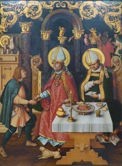 Katharinenaltar: Die hll. Ulrich und Conrad