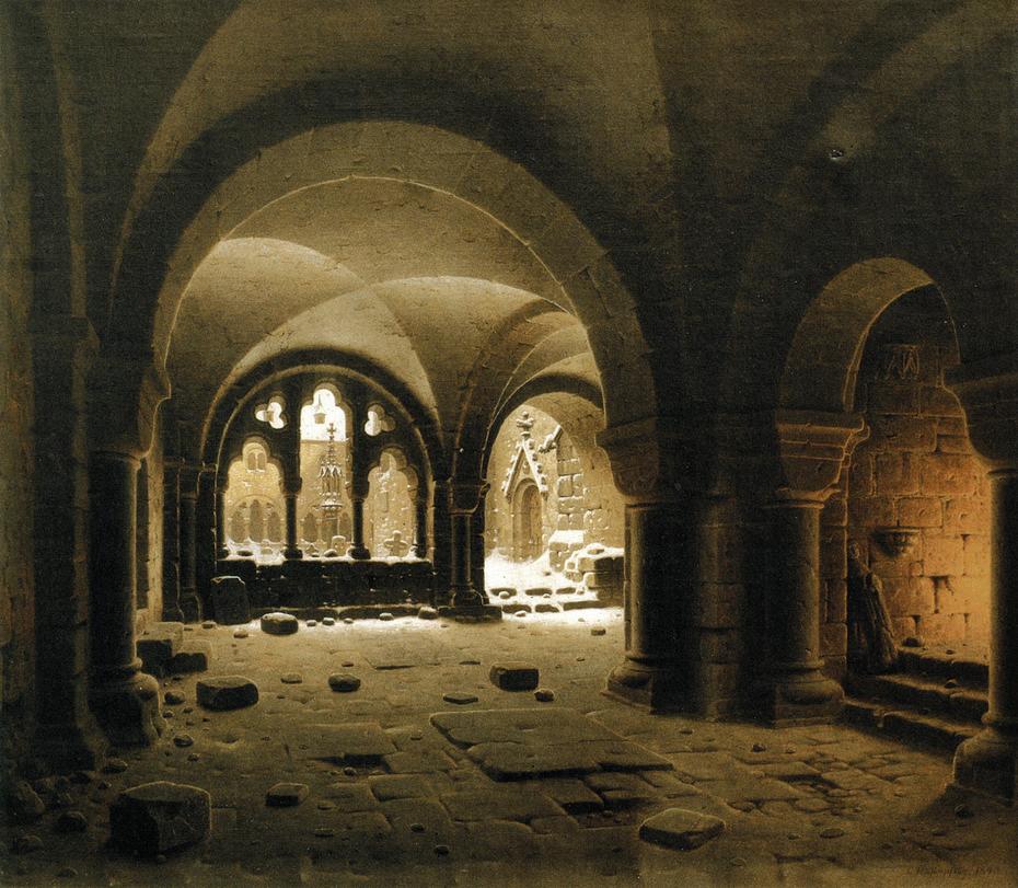 Klosterhalle im Schnee