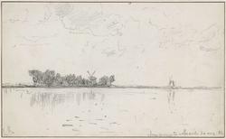 Landschap aan het meer van Abcoude