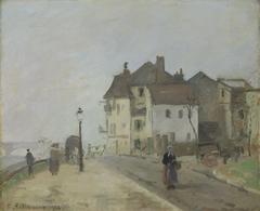 Le Quai du Pothuis à Pontoise