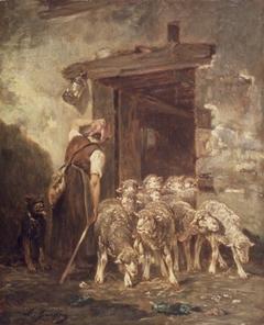''Leaving the Sheep Pen''