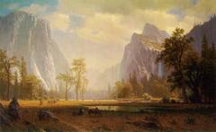 Looking up Yosemite Valley